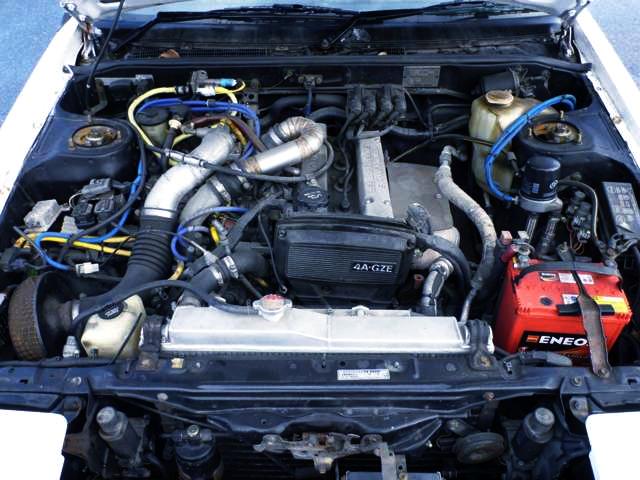 4A-GZE 1600cc SUPERCHARGER ENGINE.