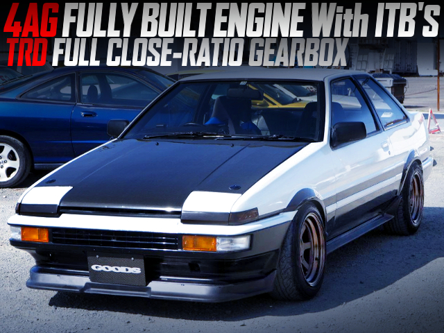4AG FULLY BUILT ENGINE WITH ITBS INTO AE86 TRUENO