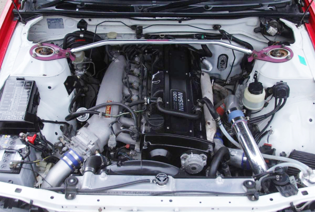 GREDDY INTAKE SURGE ON RB25DET With HKS GT-RS TURBO KIT.