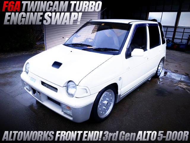 F6A TWINCAM TURBO SWAP AND ALTOWORKS FRONT END CONVERSION TO 3rd Gen ALTO 5-DOOR