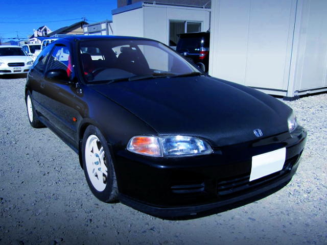 FRONT EXTERIOR OF EG6 CIVIC SiR BLACK.