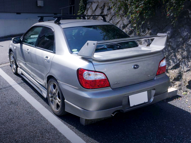 REAR EXTERIOR OF GD3 IMPREZA 1.5i