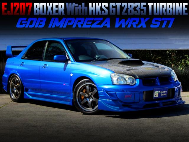 HKS GT2835 TURBOCHARGED GDB BLOBEYE IMPREZA WRX STI