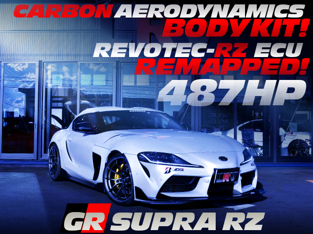 ECU TUNING AND CARBON AERO KIT INSTALLED GR SUPRA RZ 487HP