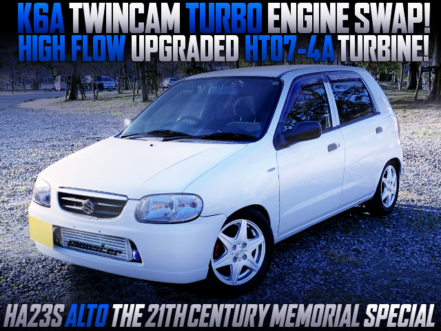 K6A TWINCAM With HT07-4A HIGH FLOW TURBO INTO HA23S ALTO THE 21th CENTURY MEMORIAL SPL