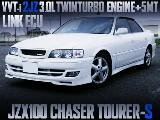 2JZ-GTE TWINTURBO AND 5MT INTO JZX100 CHASER TOURER-S