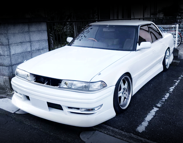 FRONT EXTERIOR OF JZX81 MARK2 WHITE