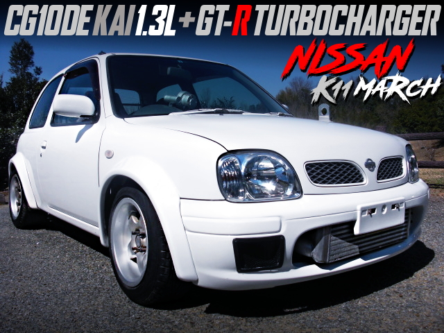 CG10DE KAI 1300cc TURBO ENGINE INTO K11 NISSAN MARCH WIDEBODY