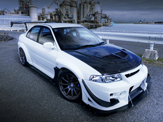 FRONT EXTERIOR OF LANCER EVOLUTION 5 WIDEBODY