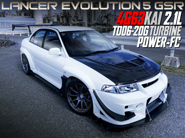 4G63 2100cc TD06-20G TURBO WITH LANCER EVOLUTION 5 GSR WIDEBODY