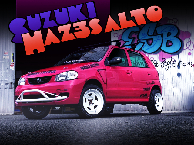 LIFTED SUZUKI HA23S ALTO 5-DOOR TO PINK PAINT.