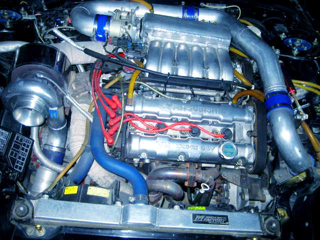 6G72 3100cc T88-33D SINGLE TURBO V6 ENGINE