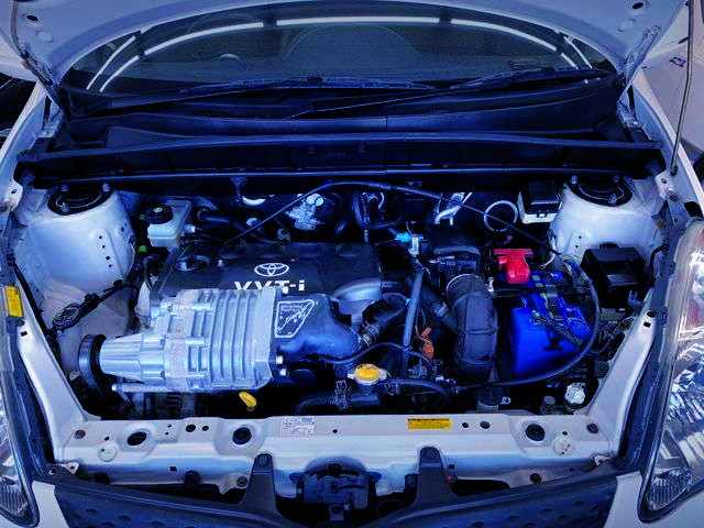 VVT-i 1NZ-FE 1500cc With SUPERCHARGER.