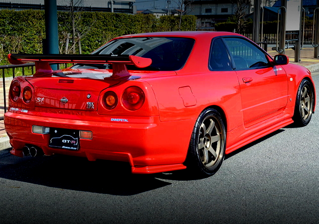 REAR EXTERIOR R34 GT-R ACTIVE RED