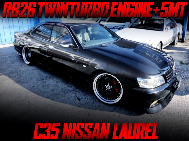 RB26 TWINTURBO AND 5MT INSTALLED C35 LAUREL