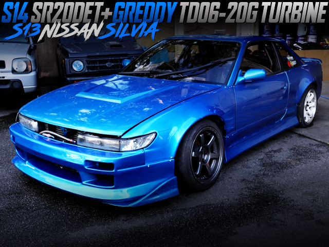 S14 SR20DET With TD06-20G TURBO INTO S13 SILVIA