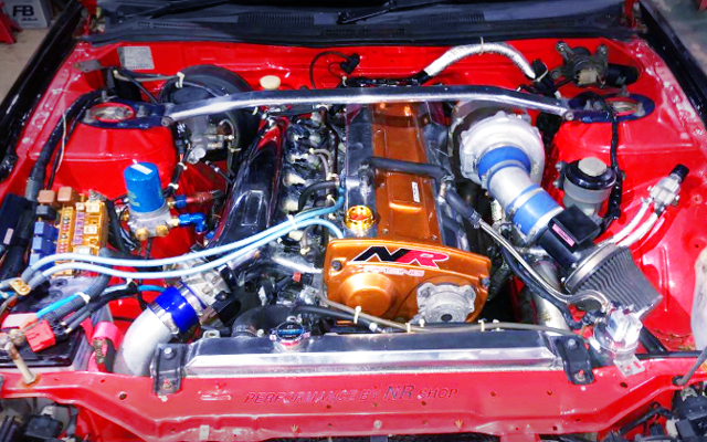 RB25DET ENGINE WITH BIG SINGLE TURBO