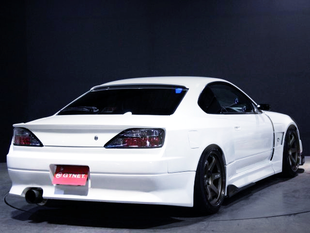 REAR EXTERIOR OF S15 SILVIA SPEC-R V-PACKAGE With VERTEX RIDGE WIDEBODY.