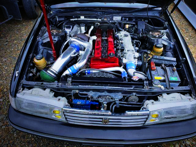 TO4R SINGLE TURBO ON 1JZ-GTE ENGINE OF NON-VVTi MODEL.