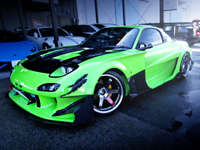 FRONT EXTERIOR OF WIDEBODY TO FD3S RX-7 TYPE-R BATHURST