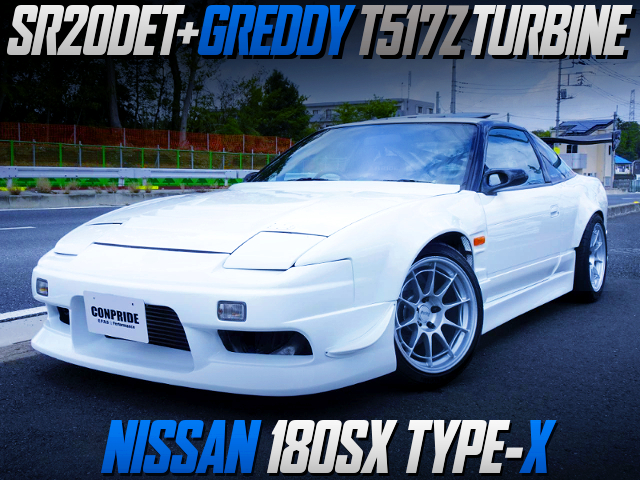 SR20DET With T517Z TURBO INTO 180SX TYPE-X WIDEBODY.