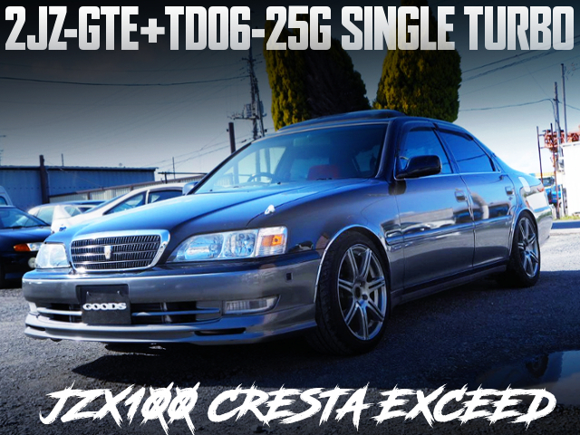 2JZ-GTE With TD06-25G SINGLE TURBO OF JZX100 CRESTA EXCEED.