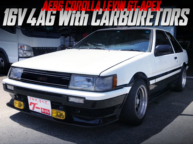4AG With SIDE-DRAFT CARBS INTO AE86 LEVIN GT-APEX.