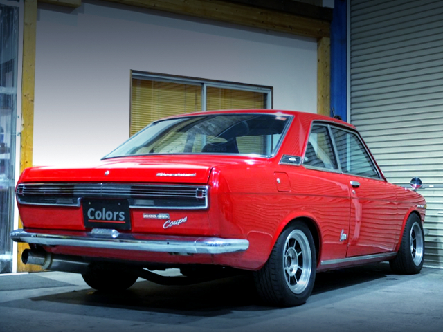 REAR EXTERIOR OF KP510 BLUEBIRD 1600SSS COUPE.