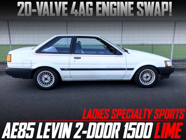 20V 4AG SWAPPED AE85 COROLLA LEVIN LIME.