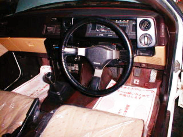 DRIVER'S GAUGES AND STEERING.