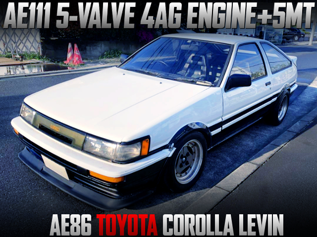 AE111 5-VALVE 4AG SWAPPED AE86 LEVIN 3-DOOR TO PANDA COLOR.