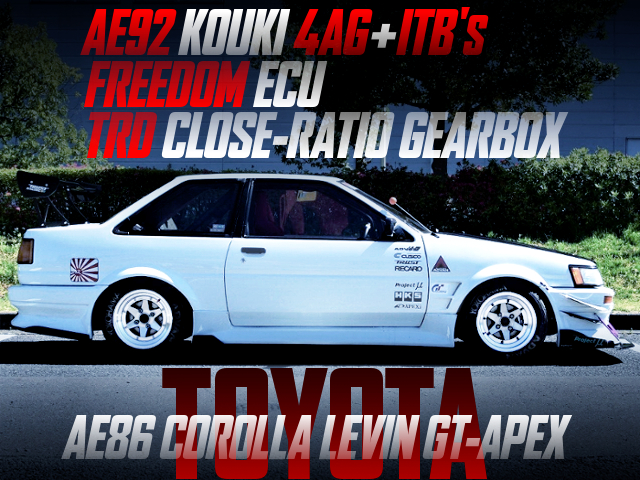 AE92 KOUKI 4AG With ITB'S AND TRD CLOSE-RATIO GEARS INTO AE86 LEVIN GT-APEX.