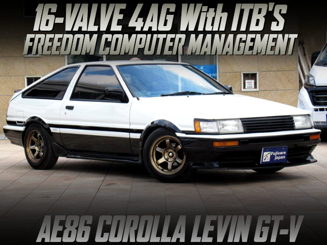 16V 4AG With ITB'S INTO AE86 LEVIN GT-V PANDA TWO-TONE PAINT.