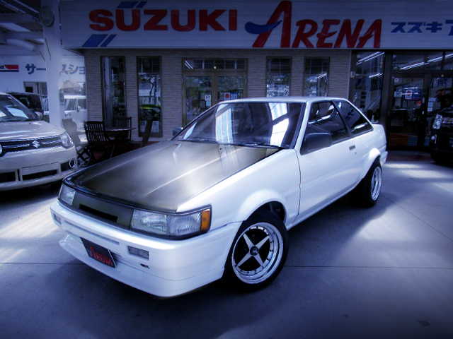 FRONT EXTERIOR OF LEVIN FRONT END TO AE86 TRUENO.