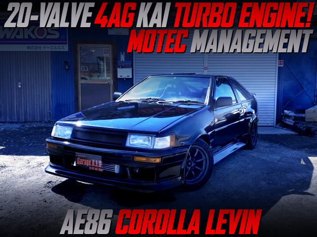 20V 4AG KAI TURBO AND MOTEC ECU WITH AE86 LEVIN WIDEBODY.