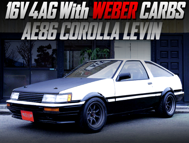 16V 4AG With WEBER CARBS INTO AE86 LEVIN HATCH.