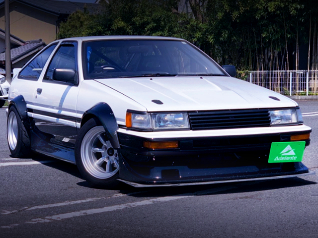 FRONT EXTERIOR OF AE86 LEVIN GT-APEX WIDEBODY.
