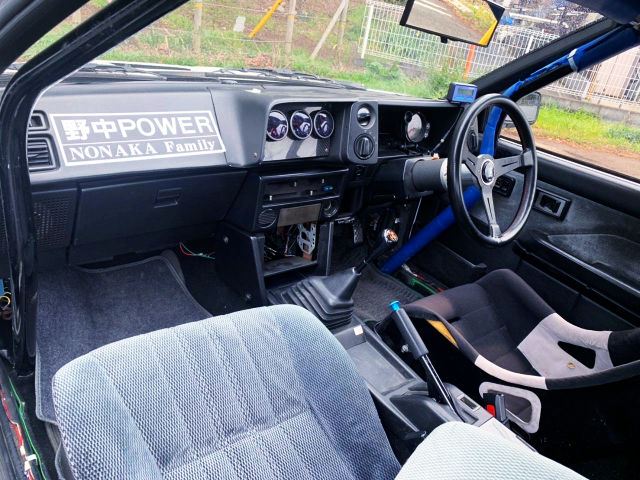 INTERIOR DASHBOARD OF AE86 LEVIN GT-APEX WIDEBODY.