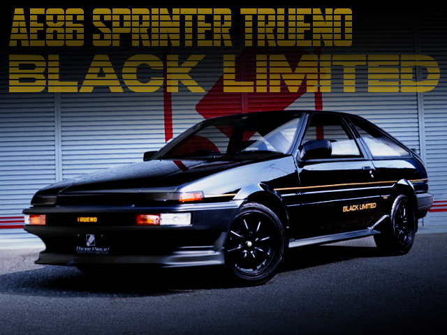 RESTORATION TO AE86 SPRINTER TRUENO BLACK LIMITED.