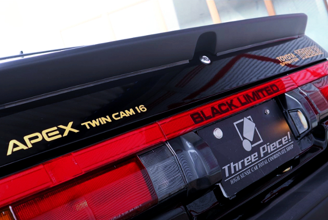 AE86 BLACK LIMITED GOLD STICKER.