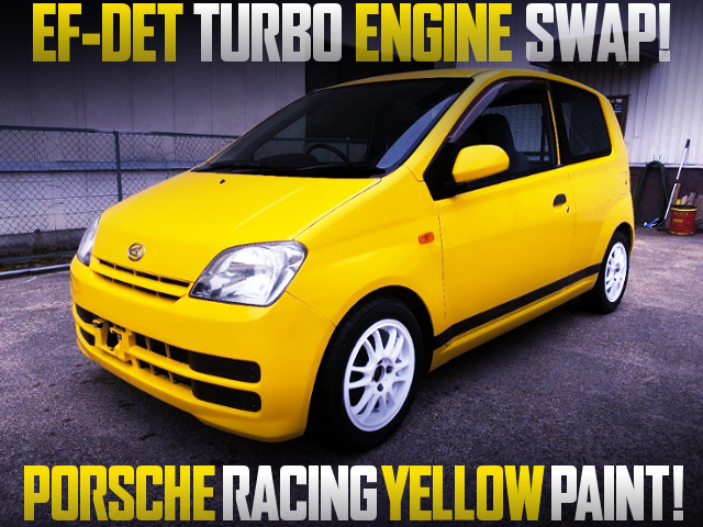 EF-DET TURBO ENGINE SWAP L250 MIRA VAN TO PORSCHE RACING YELLOW.