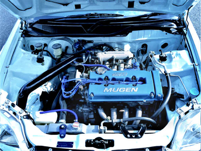 MUGEN HEAD COVER INSTALLED B16A VTEC ENGINE.