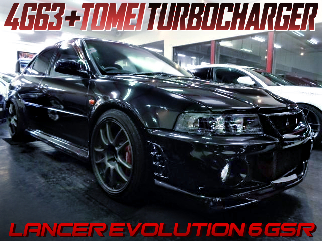 4G63 With TOMEI TURBINE INTO MITSUBISHI LANCER EVOLUTION 6.