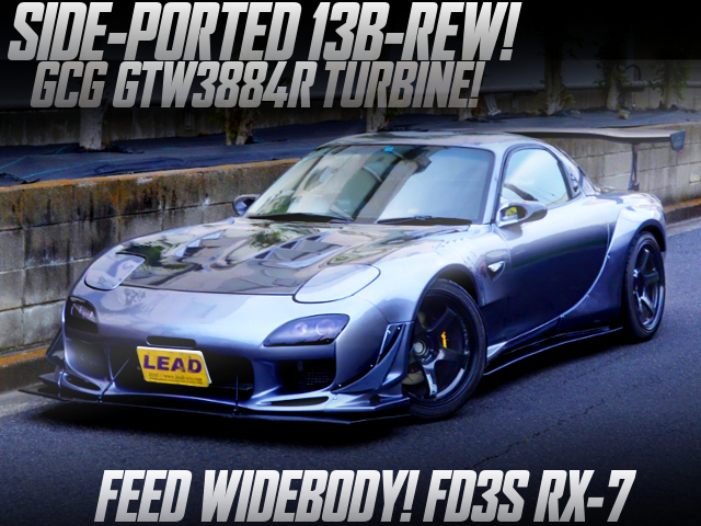 SIDE-PORTED 13B With GCG GTW3884R TURBO INTO FD3S RX-7 TO FEED WIDEBODY.