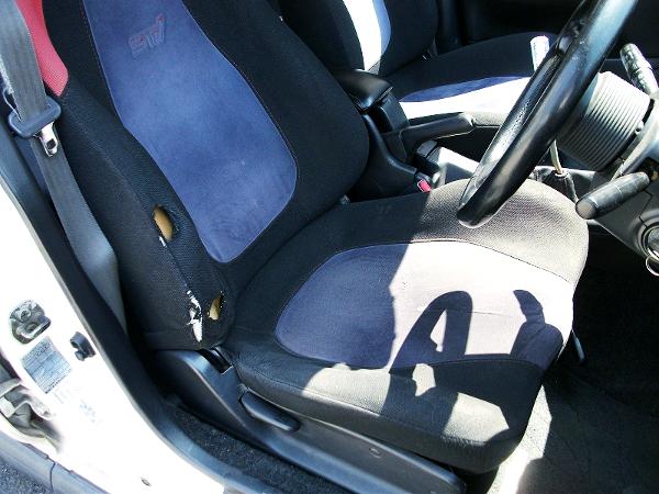 DRIVER'S SEAT OF GC8 IMPREZA WRX STi