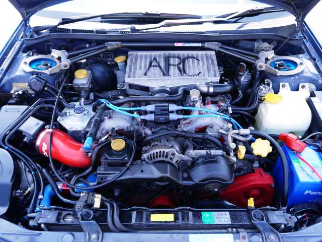 EJ20 BOXER TURBO ENGINE With ARC TOP MOUNT INTERCOOLER.