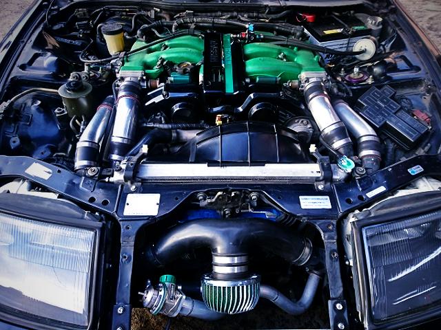 VG30DETT V6 TWINTURBO ENGINE.