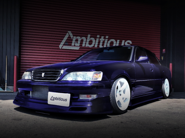FRONT EXTERIOR OF JZX100 CRESTA TO PURPLE COLOR.