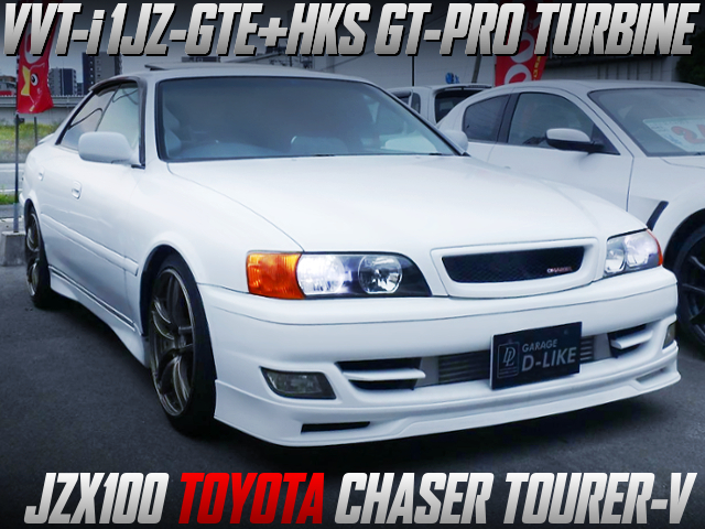 1JZ-GTE With HKS GT-RS TURBO INTO JZX100 CHASER TOURER-V WHITE.