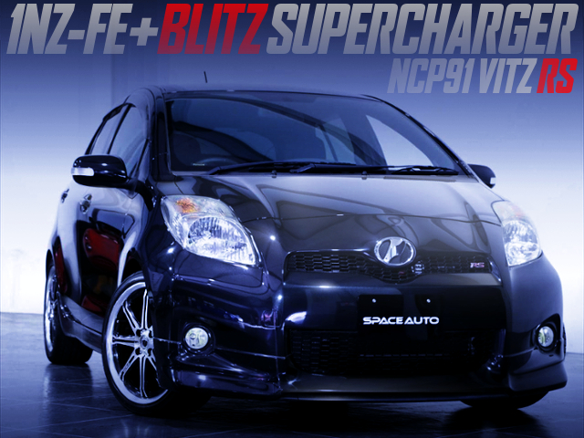 1NZ-FE With BLITZ SUPERCHARGER INTO NCP91 VITZ RS.